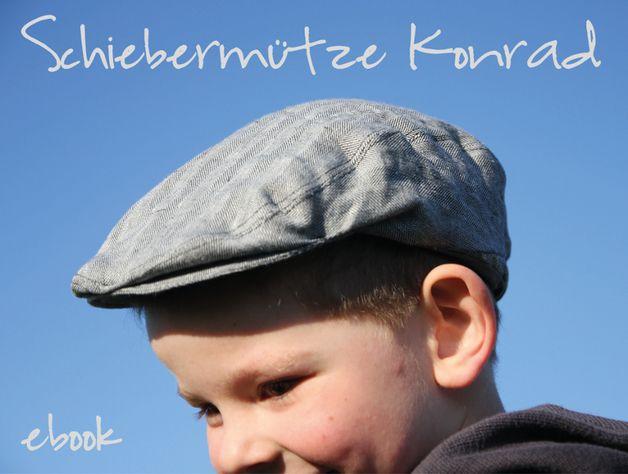 Schiebermütze Konrad   bis KU 62 cm   Kaum eine Mütze ist charakteristischer als eine Schiebermütze / ein Flatcap.  Sie schützt die Kleinsten vor der Sonne und sieht dabei auch noch lässig...   Zimt & Zucker