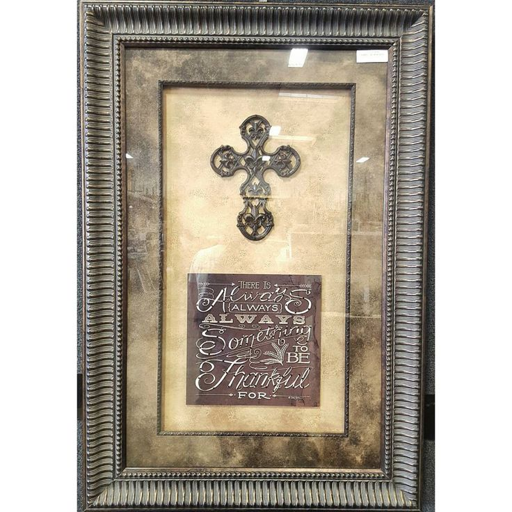 """Thankful"" with iron cross framed and hand embellished with Swarovski Elements 💎💎💎 ☎ Call (909) 989-8558 or visit our shop in #RanchoCucamonga to purchase this.  #art #homedecor #swarovski #giftideas #giftsforher #wallart #interiordesign #customframing #framedart #follow #followme #follow4follow #f4f #instaart #aotd #potd #picoftheday #photooftheday #artoftheday #rustic #abstractart #moderart #decorativeart #walldecor #mirror #quoteoftheday #religious"