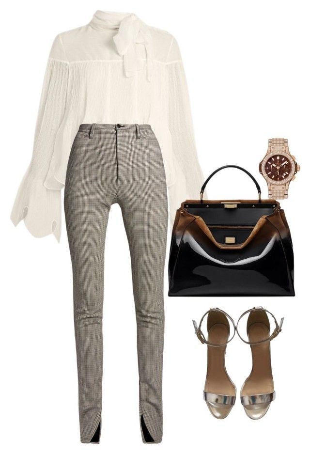 """""""work"""" by neide-goncalvesbrito on Polyvore featuring See by Chloé, Balenciaga, Fendi, J.Crew and Hublot"""