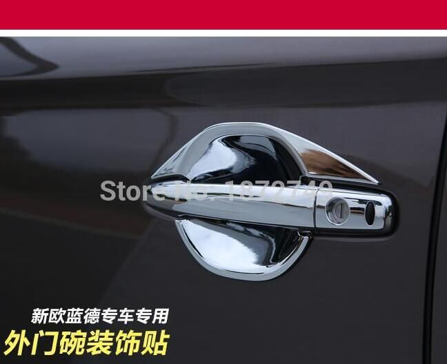 Free shipping ABS Chrome Car Door Handle Cover For Mitsubishi Outlander Lancer 2008 RVR / ASX 2010 2011 2012 2013 2014 2015 2016