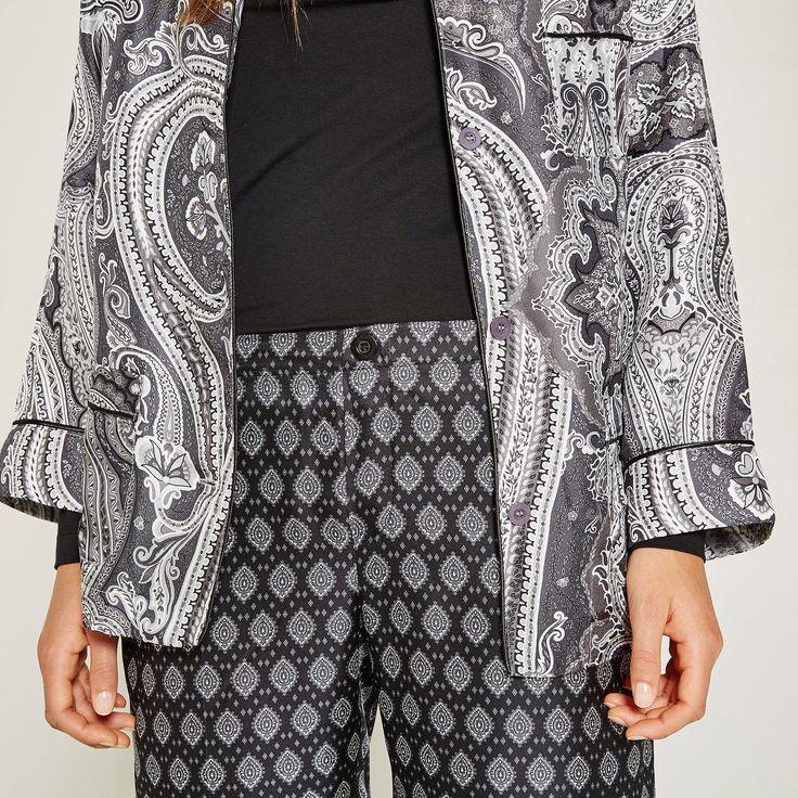 Zijden broek met print - Loungewear collection - Women's Homewear - Homewear    Zara Home Holland