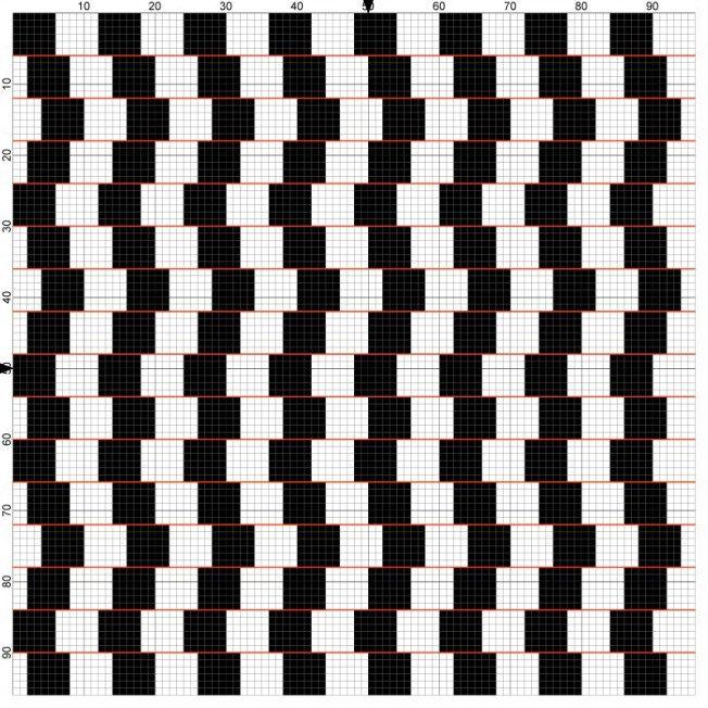 effet optique Noir Blanc