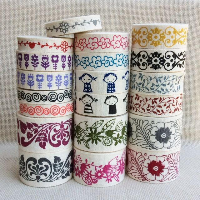 Bahia Art Ribbon:  All our ribbons are 100% natural cotton, washed and pre-shrunk.  Silk screened by hand with water based ink and heat set for permanency.