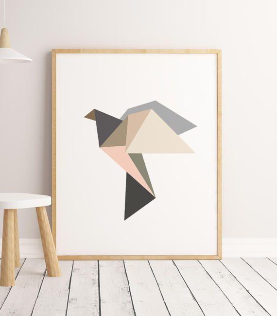 Nursery Wall Art Animals Bird Print Printable Art by ENORASIS