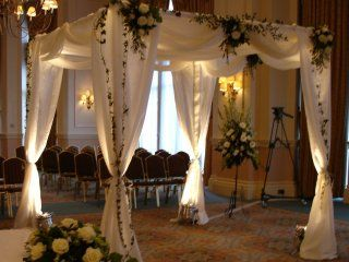 10 best wedding canopy chuppah inspiration images on pinterest stunning look at this fab chuppah inspired uplighting wedding reception junglespirit Gallery