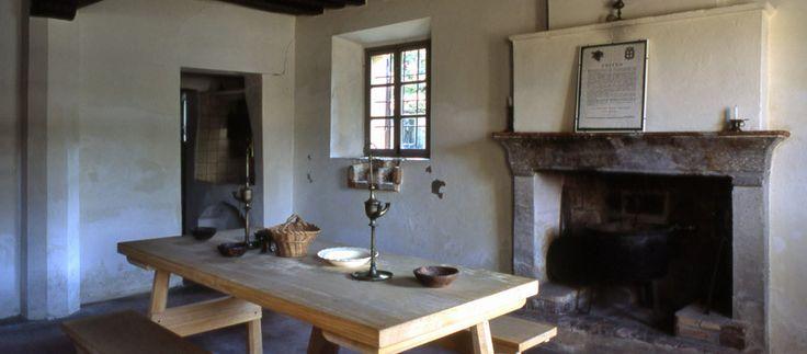 Dining room inside Verdi Birthplace Busseto (Parma, Italy)