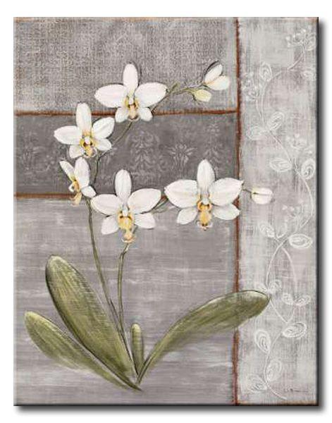 BRU_011_Orchid Shimmer II / Cuadro Flores Orquidea Vintage