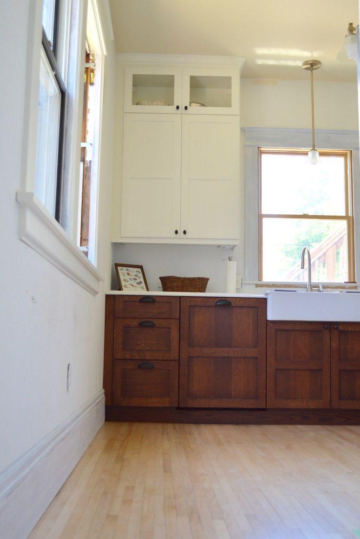 Craftsman kitchen update scherr 39 s cabinets white and for Update white kitchen cabinets