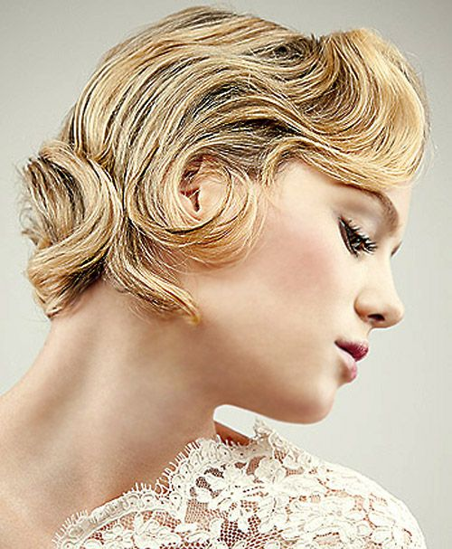 Yellow short curve hairstyle