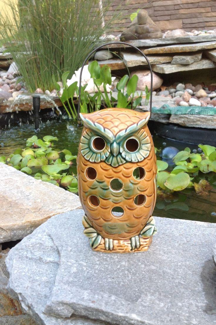 SALE-FREE SHIPPING-Vintage Groovy Norcrest Ceramic Owl Lantern-Hippie-Gypsy-Retro-Bohemian-Nature-Woodsy-Earthy-Mid Century-Farmhouse-Cottag by ellansrelics02 on Etsy https://www.etsy.com/listing/295345397/sale-free-shipping-vintage-groovy