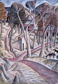 """Capel-y-ffin"" by David Jones, 1926-7 (Pen, watercolour and bodycolour on paper)"