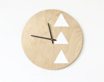 Modern Yellow Clock Trending Yellow Home Decor by Shannybeebo