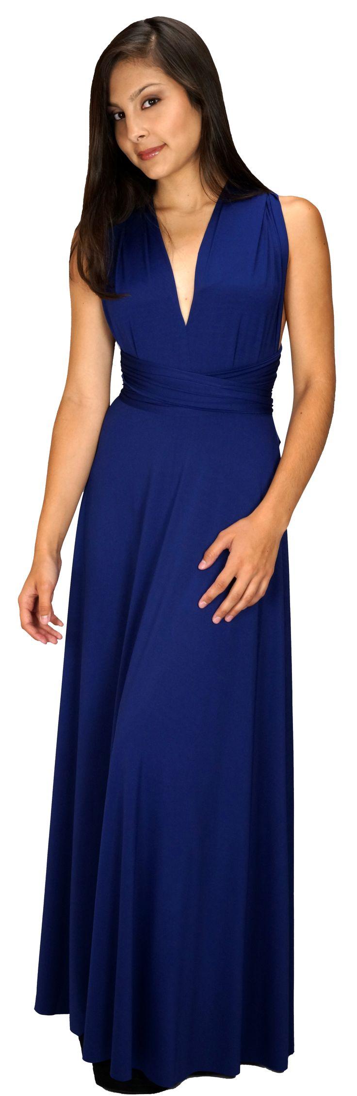 Navy Blue Convertible Bridesmaid Dress long full Length