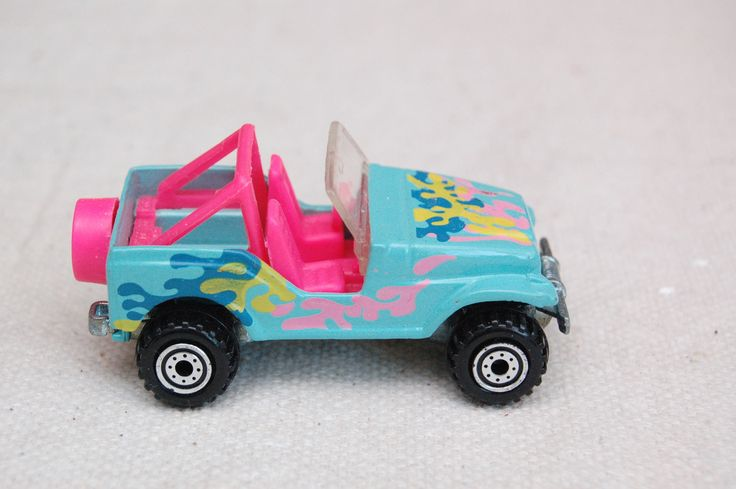 Original Hot Wheels  Jeep Cj-7 Trail Buster, Hot Pink Interior, 1990, Mattel Inc, Vintage Die-cast Toy Car Collection by RememberWhenToys on Etsy