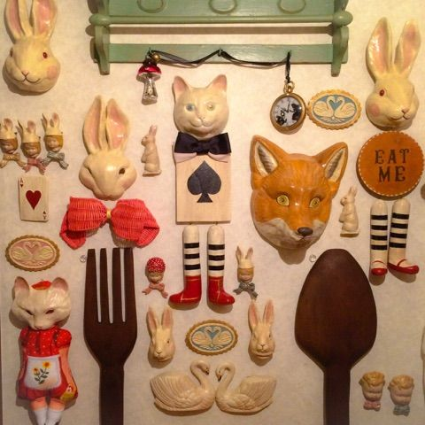 What a great wall arrangement - foxes and bunnies oh my!