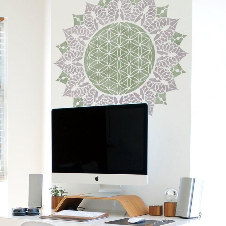 Mandala Stencil -  Flower Of Life Stencil - Mandala-style Stencil - Flower Of Life Design- Wall Stencil - Geometric Design