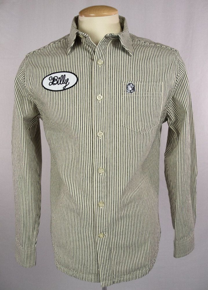 BILLIONAIRE BOYS CLUB New Mens Billy Shirt Size S Mechanic Style Long Sleeve #BillionaireBoysClub #ButtonFront