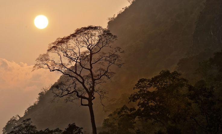 Sunset on the Nam Ou (river)near Nong Kiau, Laos. Paul Wager