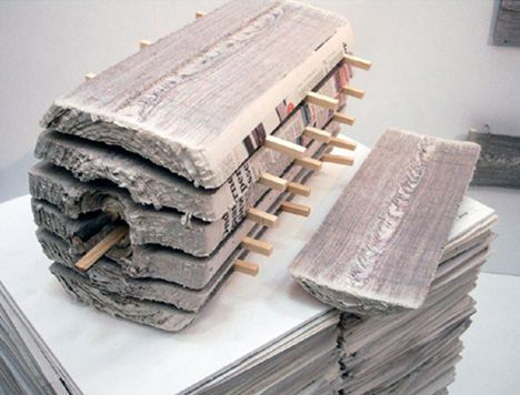 Newspapers Recycled Into Paper Timber U0026 Furniture By Mieke Meijer / Vij5
