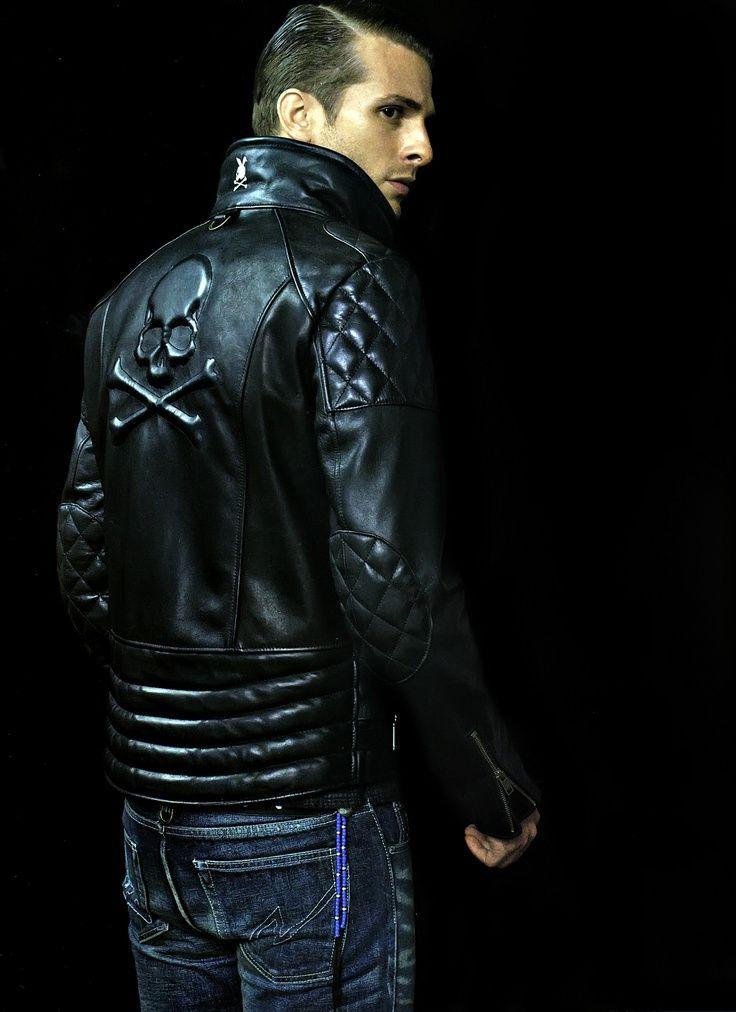 Leather skeleton jacket