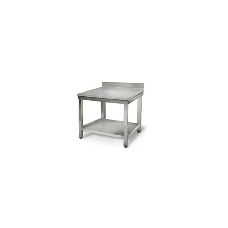 Achat de Table Inox avec Dosseret - Profondeur 700 mm