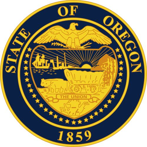 The state seal of Oregon.