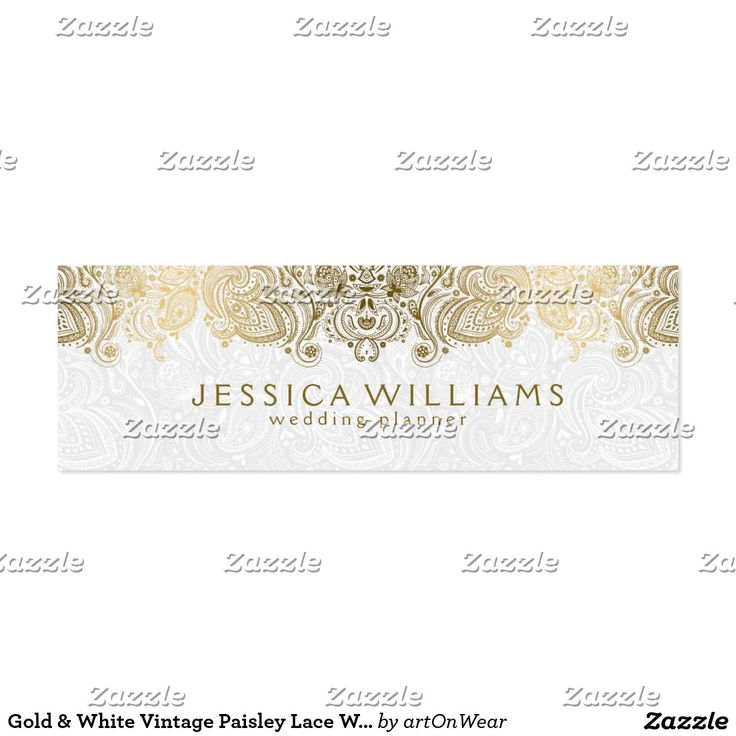 57 best business cards mini images on pinterest business cards gold white vintage paisley lace wedding planner mini business card cheaphphosting Image collections