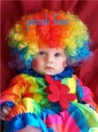 A rainbow explosion - adorable.: Colour, Clowns Costumes, Rainbows Colors, Baby Dolls, Rainbows Clowns, Future Baby, Rainbows Baby, Baby Clowns, Colors Fashion