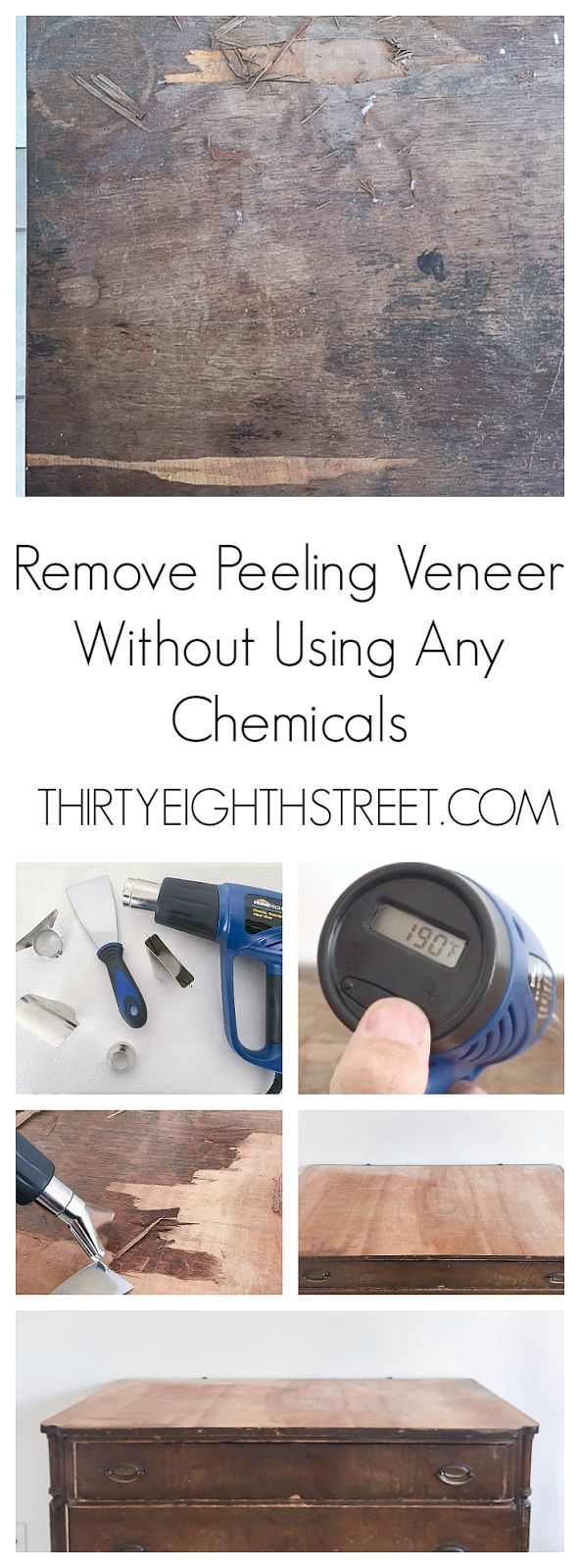 How To Quickly Remove Veneer With A Heat Gun
