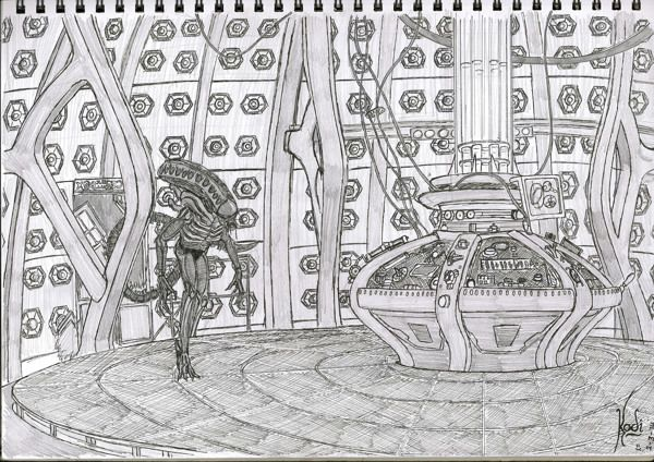 TARDIS/Alien Intruder- by Kodi Murray
