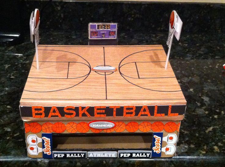 Vday Box Basketball Theme Boys valentines boxes