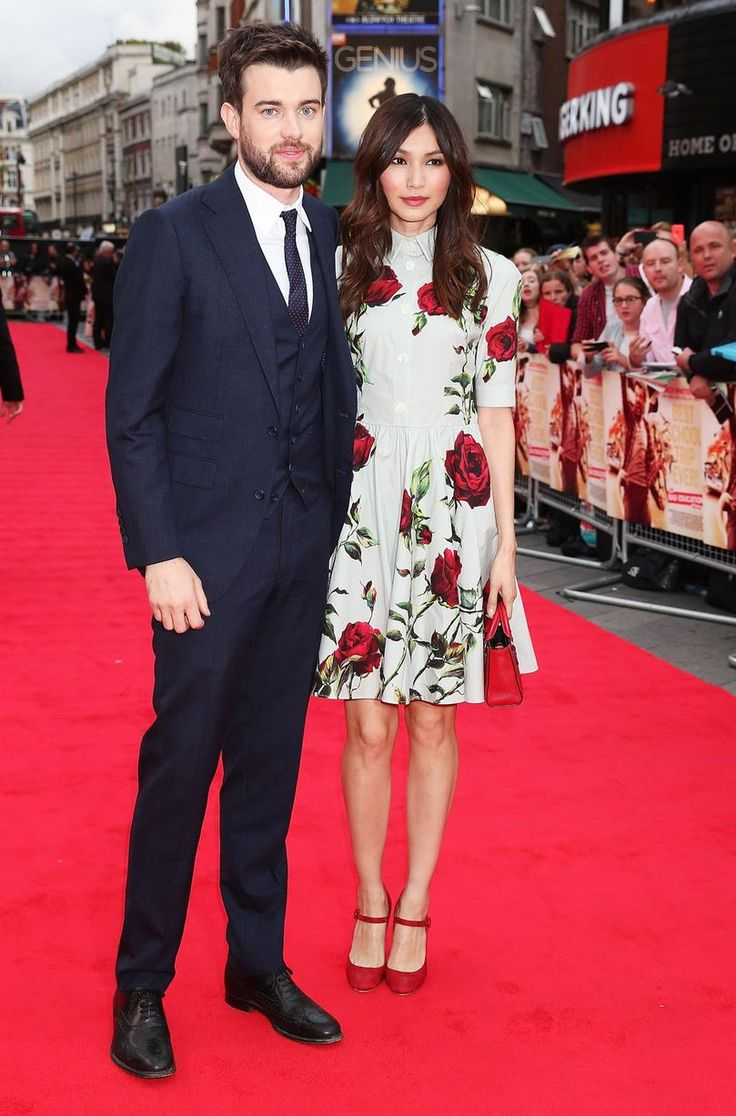 "Jack Whitehall and Gemma Chan attend the World Premiere of ""The Bad Education Movie"" at Vue West End on August 20, 2015 in London"