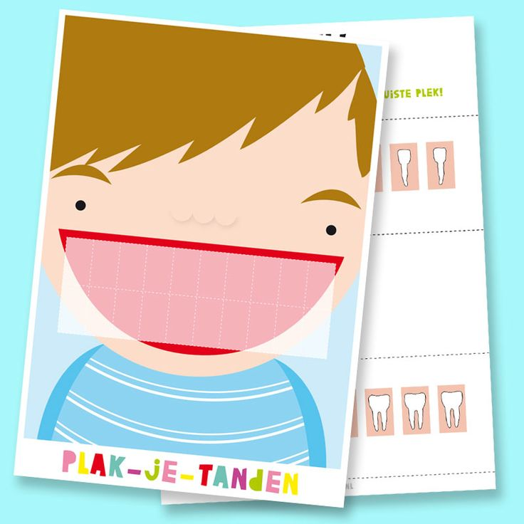 Printable to cut and paste teeth in the mouth on the right spot, the boy version.