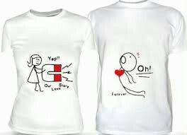 Camisetas personalizadas de casal - 5  e2f18195619