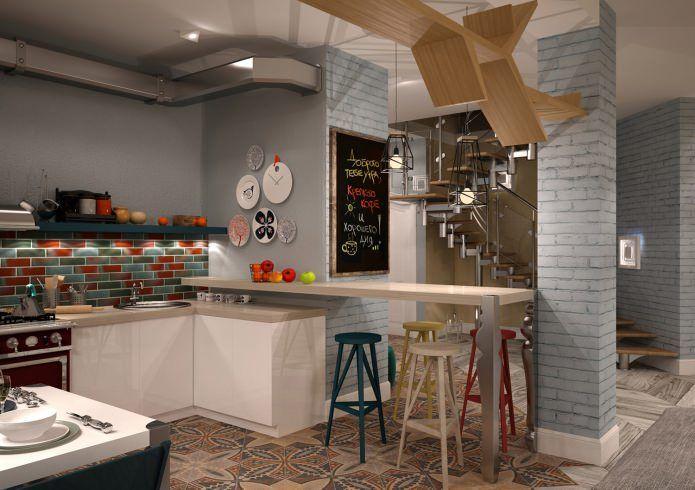 """дизайн кухни в стиле """"кафе"""""""