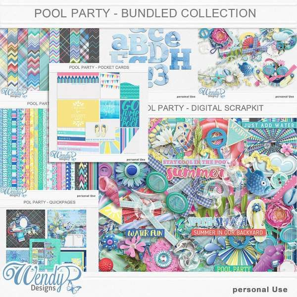 Collections :: P :: Pool Party by WendyP Designs :: Pool Party - Bundled Collection