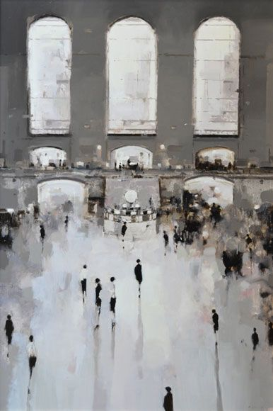 Geoffrey Johnson's Transparent Cities : socks-studio #art #paintings #cityscapes