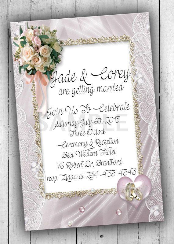 Bridal Party Invitation Wedding by PartyPrintableInvite on Etsy