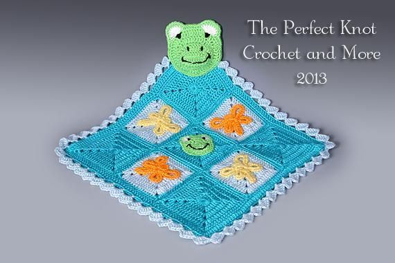 Froggy Lovey Security Blanket via Craftsy