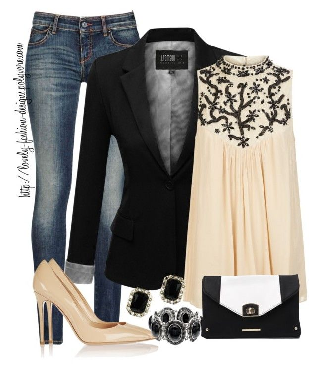 ~♡~ Black & Nude ~♡~ by lovely-fashion-designs on Polyvore featuring polyvore fashion style Monsoon J.TOMSON Armani Jeans Gianvito Rossi Kardashian Kollection Sonoma life + style Miss Selfridge clothing