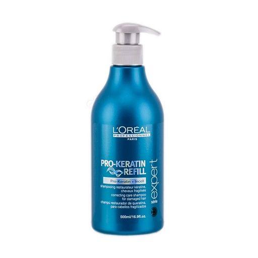 Loreal Pro Keratin Refill szampon do włosów osłabionych z keratyną 500ml z aplikatorem
