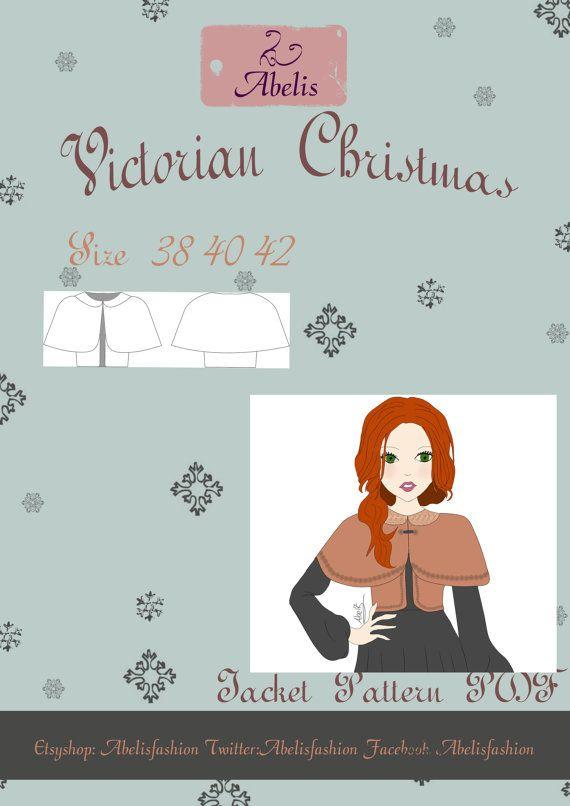 Patrón capa Navidad mujer talla 38/40/42 español por AbelisFashion