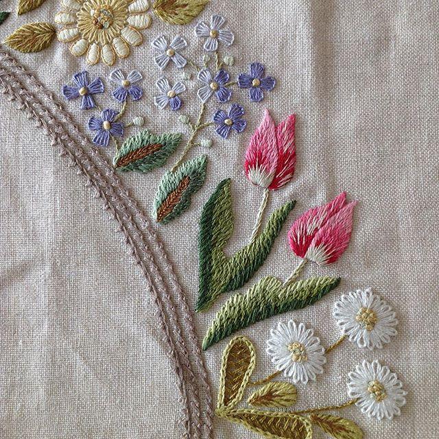 Kır çiçekleri...2.resim #flowers #çiçekler #elnakışı #nakış #handmade #elişi #embroidery #dekoratifnakış #needleart #needlework #