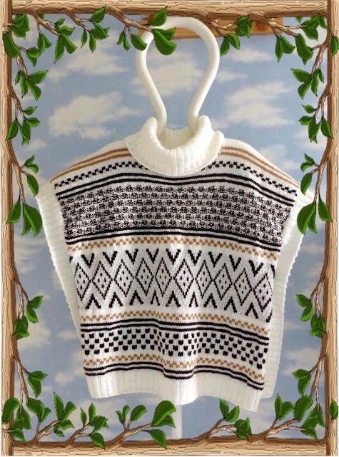 Les mains dans la tête: Poncho au tricot