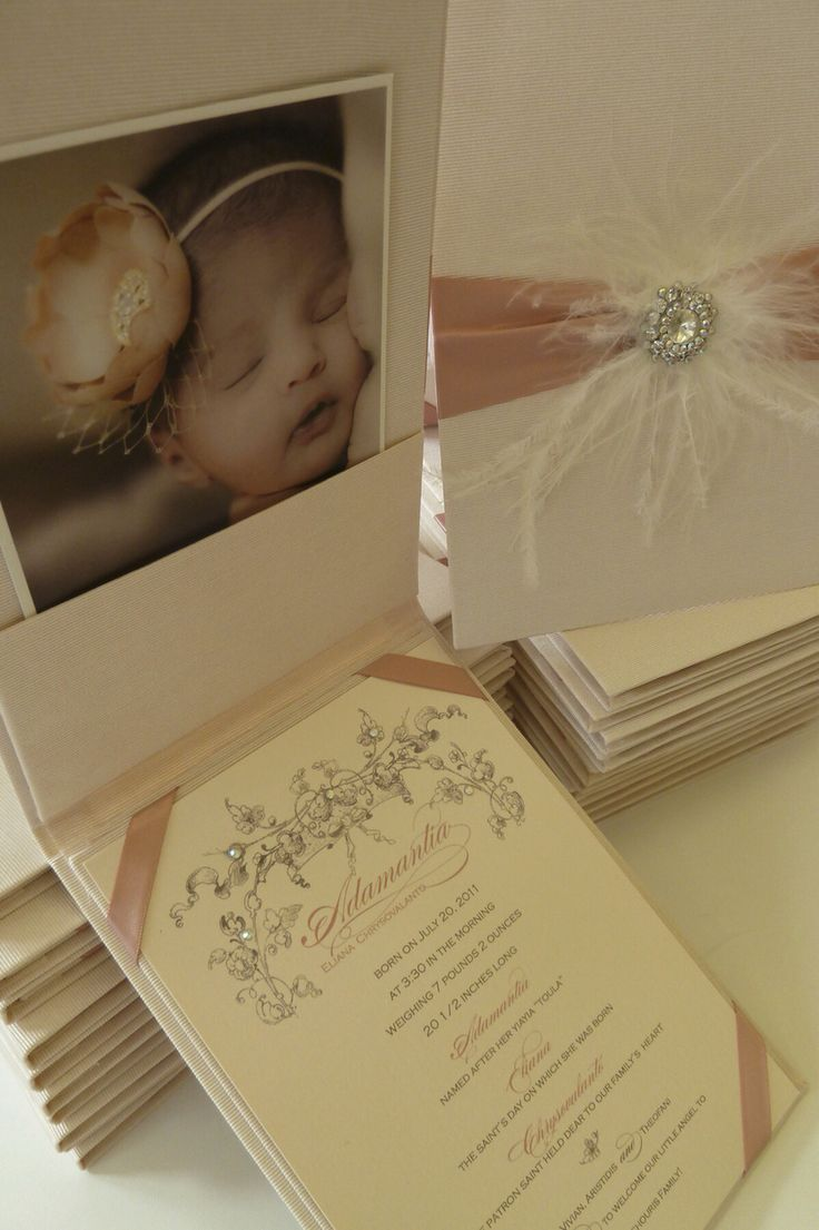 Lil Blessing Folio style birth Announcement or