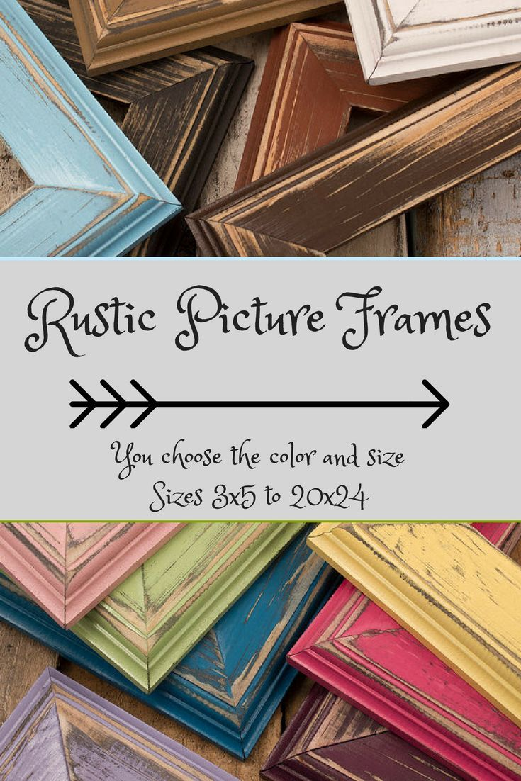 I could use these rustic picture frames in every room in the house. Picture Frame Set, Choose Your Own Frame Sizes/Colors! Rustic Picture Frame, Rustic Frame Photo Frame Set, Rustic Home Decor#ad