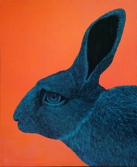 RABBIT by DIREN LEE acrylics on canvas