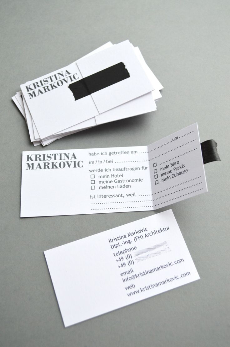 DIY Visitenkarten selber machen 9