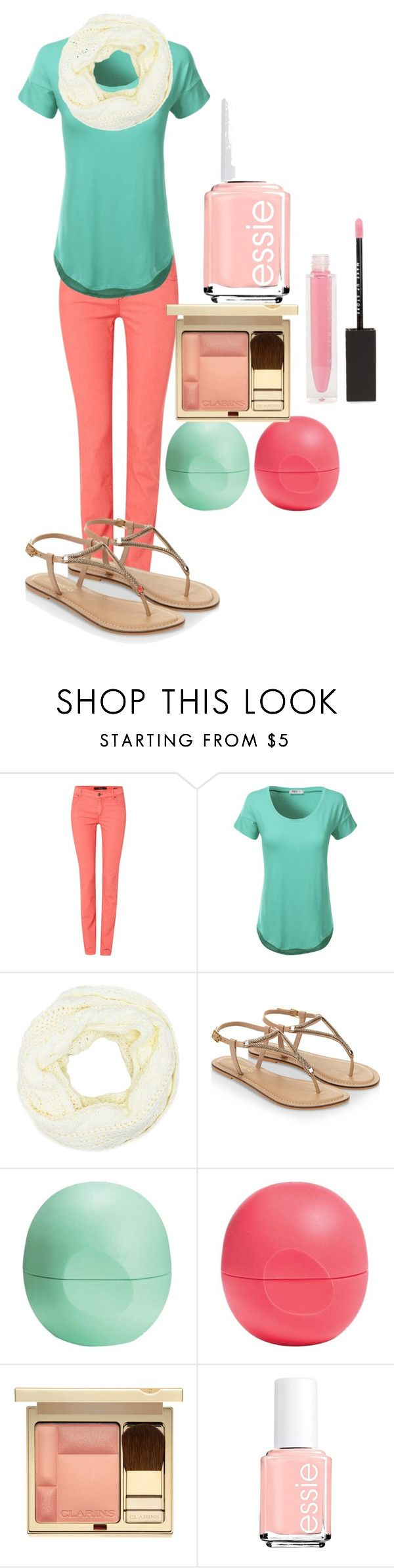 """""""summer days"""" by kylibuggjr on Polyvore featuring Oui, J.TOMSON, Charlotte Russe, Accessorize, Eos, Clarins, Essie and MAKE UP STORE"""