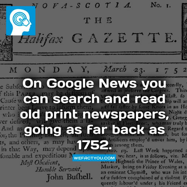 On Google News you can search and read old print newspapers, going as far back as 1752. More